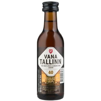 Ликер Vana Tallin Original 40% 0,05л - купить, цены на МегаМаркет - фото 1