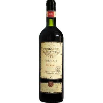 Вино Casa Veche Merlot красное сухое 11-13% 0,75л