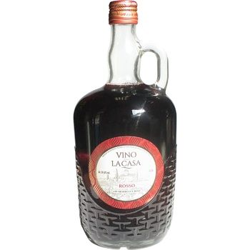 Вино Vino la Casa Rosso красное полусладкое 11% 1л