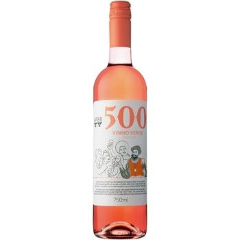 Вино 500 Vinho Verde розовое полусухое 8,5% 0,75л