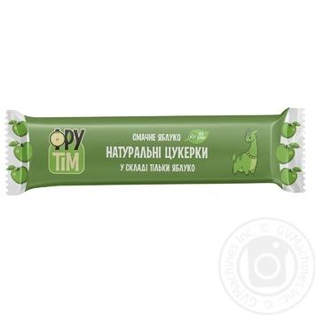 Конфеты натуральные Фрутим Вкусное яблоко 20г - купить, цены на Novus - фото 1