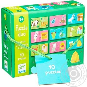 Гра настільна дитяча картонна Djeco DJ08164 Гра Хто, де живе?