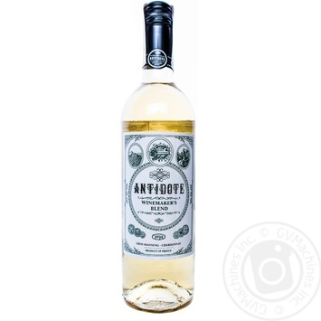 Wine white semidry 12% 750ml glass bottle