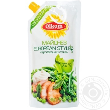 Olkom European Mayonnaise 72% 360g - buy, prices for MegaMarket - image 1