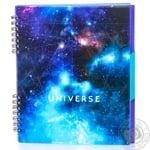 Блокнот Optima Universe на спирали 120 листов в ассортименте