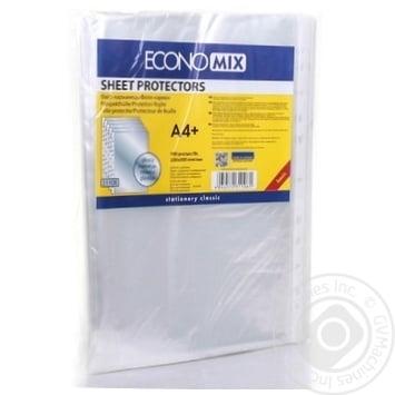 Файлы EconoMix А4+ 30мкм глянцевые 100шт - купить, цены на Метро - фото 2