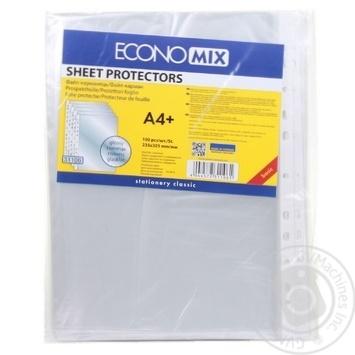 Файлы EconoMix А4+ 30мкм глянцевые 100шт - купить, цены на Novus - фото 3