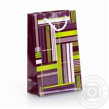 Пакет подарунковий 36 Мв Світ поздоровлень паперовий 177*109*56мм - купить, цены на Novus - фото 4
