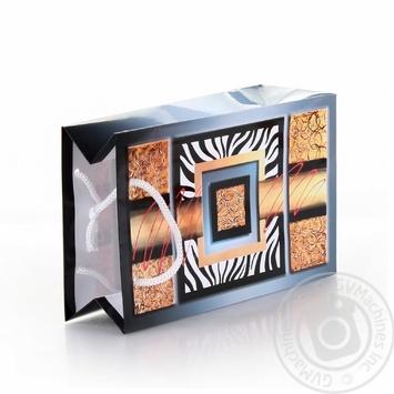 Пакет подарунковий 36 Мв Світ поздоровлень паперовий 177*109*56мм - купить, цены на Novus - фото 2