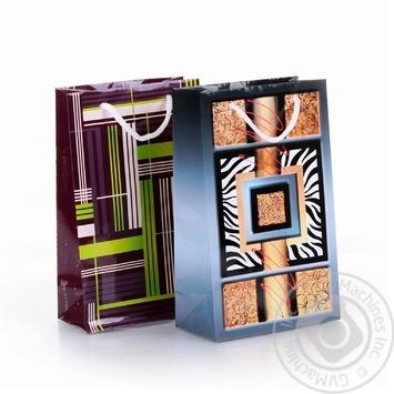 Пакет подарунковий 36 Мв Світ поздоровлень паперовий 177*109*56мм - купить, цены на Novus - фото 1
