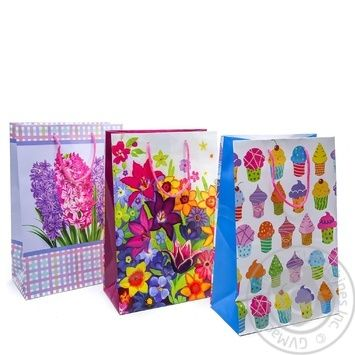 Gift Package 26х32cm in Assortment - buy, prices for Auchan - photo 1