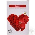 Свічка з запахом Bispol p15-105 6шт 4h любов