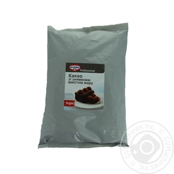 Какао Dr.Oetker Professional с пониженным содержанием жира 1кг - купить, цены на Метро - фото 1