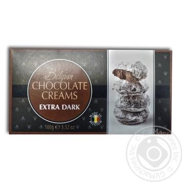 Конфеты Bianka Снежки кремовые в экстрачерном шоколаде 100г