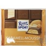 Шоколад молочный Ritter Sport Карамельный мусс с миндалем 100г