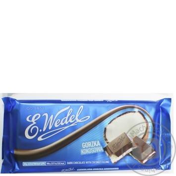 Шоколад темний з кокосовою начинкою Ведель 100г