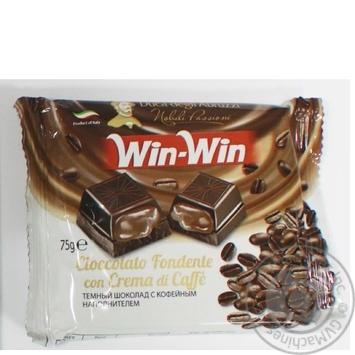 Шоколад темний з кавовим кремом Win-Win Герцог Абруцці 75г