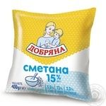 Sour cream Dobriana 15% 400g