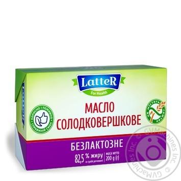 Масло LatteR сладкосливочное безлактозное 82.5% 200г - купить, цены на Novus - фото 2