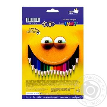Олівці ZiBi кольорові 18 кольорів - купити, ціни на CітіМаркет - фото 2
