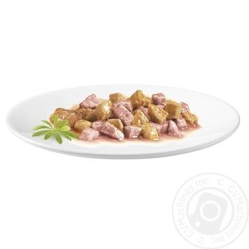 Корм GOURMET Gold С лососем и курицей в подливке для взрослых кошек 85г - купить, цены на Novus - фото 2