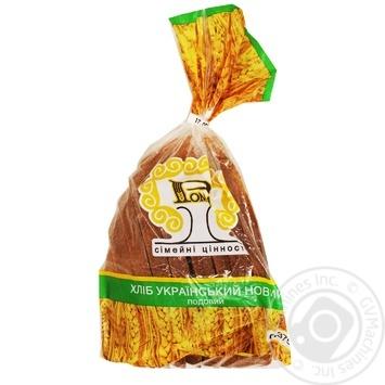 Хліб Рома Український новий нарізаний 375г - купить, цены на Ашан - фото 1