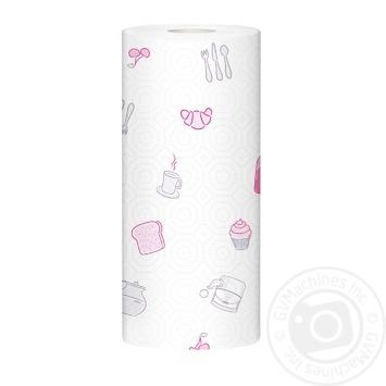 Полотенца бумажные Zewa Premium Decor белые 2-х слойные 2шт - купить, цены на МегаМаркет - фото 2