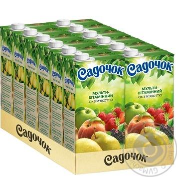 Сок Садочок Мультивитамин с мякотью 0.95л - купить, цены на Фуршет - фото 3