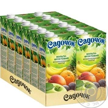 Нектар Садочок Мультифрукт Slim 0.95л - купити, ціни на Ашан - фото 3