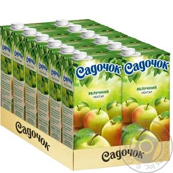 Нектар Садочок Яблочный неосветлённый Slim 0.95л - купить, цены на Фуршет - фото 3