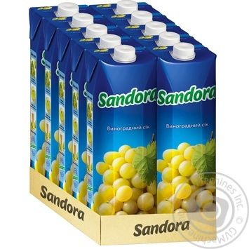 Сок Sandora Виноград 950мл - купить, цены на МегаМаркет - фото 2