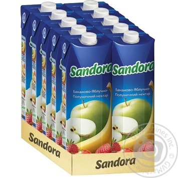 Нектар Sandora бананово-яблучно-полуничний 950мл - купити, ціни на МегаМаркет - фото 2