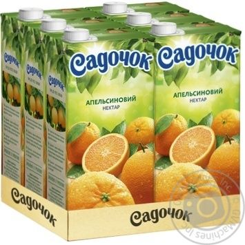 Нектар Садочок апельсиновий 1,93л - купити, ціни на Novus - фото 3