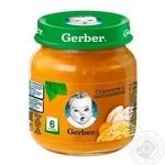 Пюре Gerber Спагетти с цыпленком протертое 125г