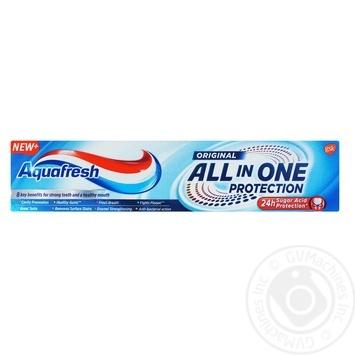 Зубная паста Aquafresh Комплексная ежедневная защита 100мл - купить, цены на Фуршет - фото 4