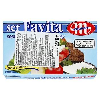 Mlekovita Favita Soft Salt Cheese 45% 270g - buy, prices for CityMarket - photo 2
