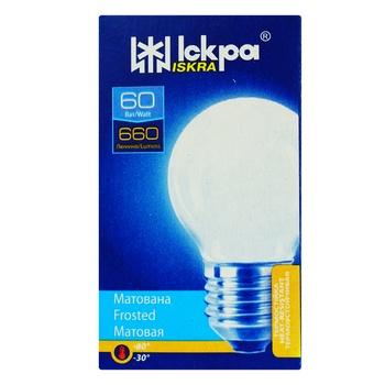 Лампа Искра Шар матовая PS45 230B 60Вт Е27