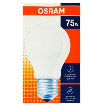 Osram Incandescent Lamp A 75W FR 75 E27