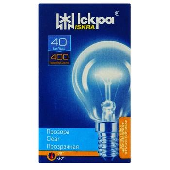 Лампа прозрачная Искра Е14 PS45 Т 230B 40Вт - купить, цены на МегаМаркет - фото 1