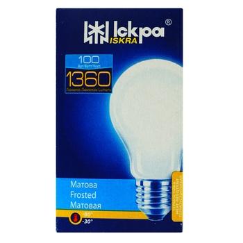 Лампа Искра матовая А55 230В 100Вт Е27