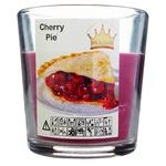 Свеча Pragnis в стакане вишневый пирог 79X83мм