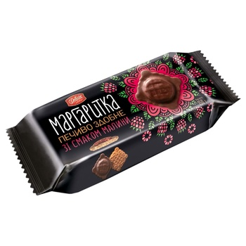 Печиво Деліція Маргаритка здобне в темній глазурі зі смаком малини 150г - купити, ціни на CітіМаркет - фото 2