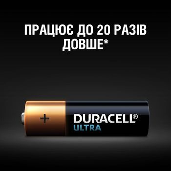Duracell Ultra Power AA Alkaline Batteries 4pcs - buy, prices for Auchan - photo 3