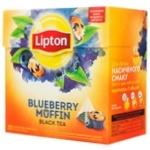 Чай Липтон Блюбери маффин черний пакет 20х1.2г