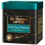 Чай черний Lipton Sir Thomas Earl Grey Finesse с ароматом бергамота 100г