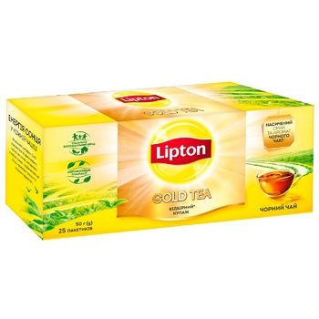 Lipton Gold Black tea 25pcs*2g - buy, prices for CityMarket - photo 2