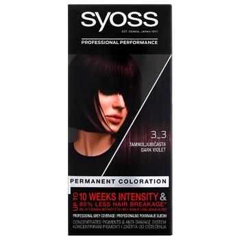 Краска SYOSS 3-3 Темно-фиолетовый для волос 115мл - купить, цены на Ашан - фото 2
