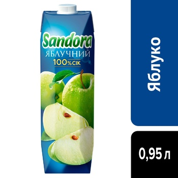 Сок Sandora яблочный 0,95л - купить, цены на Метро - фото 4