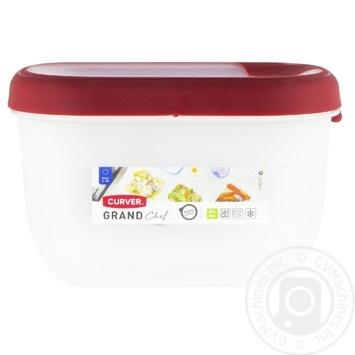 Ємкість Curver Grand Chef для заморожування та мікрохвильовок прямокутна 0,75л в асортименті - купити, ціни на МегаМаркет - фото 2