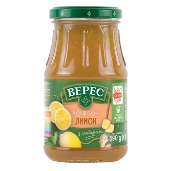 Veres Lemon with Ginger Confiture 390g - buy, prices for CityMarket - photo 1